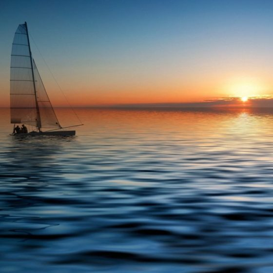 яхта море
